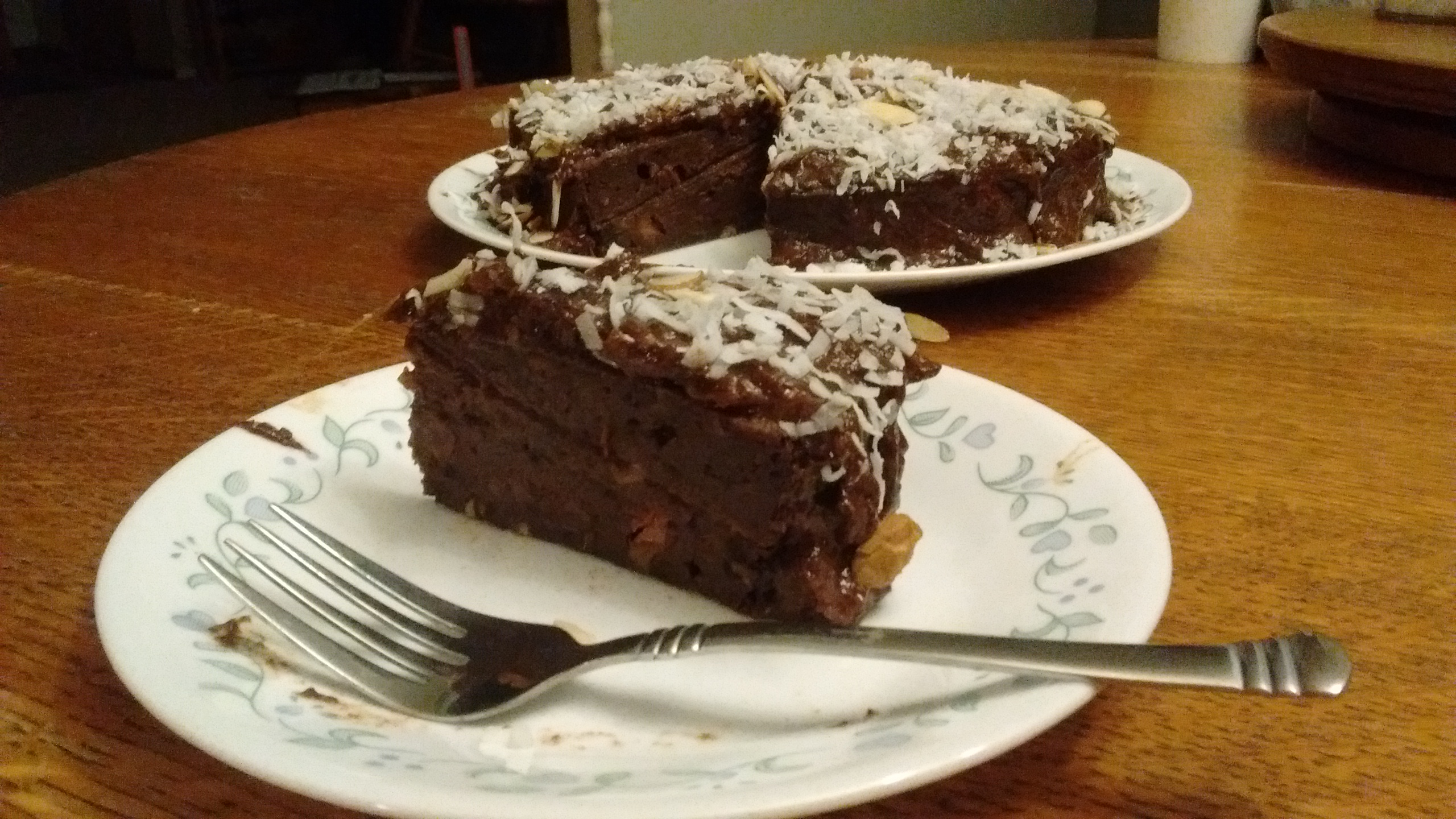 Banana Date Chocolate Cake